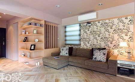 仿木纹瓷砖的两居室样板间-乐山装饰