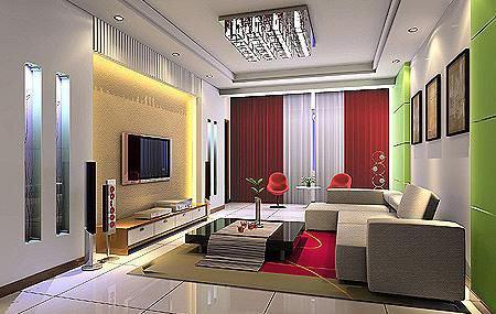 客厅电视墙装修图片:家居舒适最重要-客厅电视背景墙设计 打造精彩