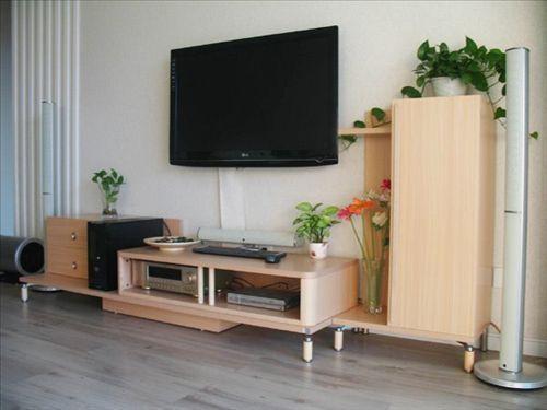 左边几根竖木条,就完成了电视背景墙的造型