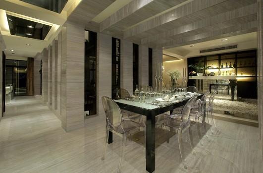 客厅地板砖效果图:浅灰色时尚雅致-简单装修 客厅地板砖效果图