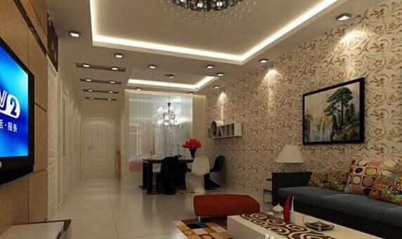 优雅温馨的客厅吊顶装修效果图-乐山装饰网