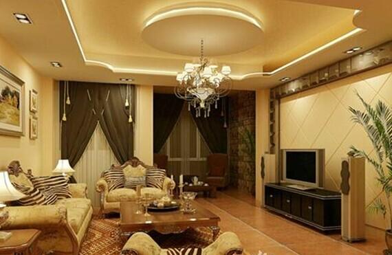 优雅温馨的客厅吊顶装修效果图