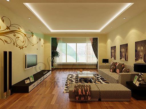 紫色的硅藻泥搭配白色硅藻泥线条装饰的沙发背景墙,有无限向周围延伸