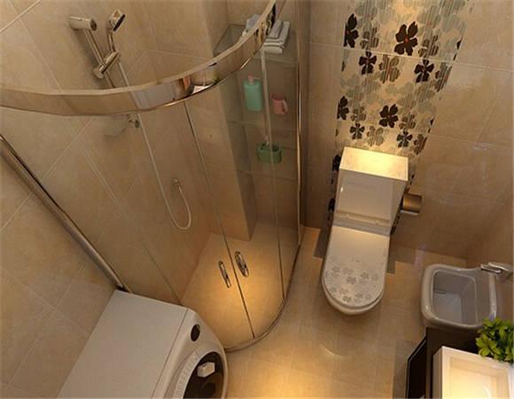 小型卫生间来说,瓷砖和颜色的搭配最需要起到扩大空间的效果