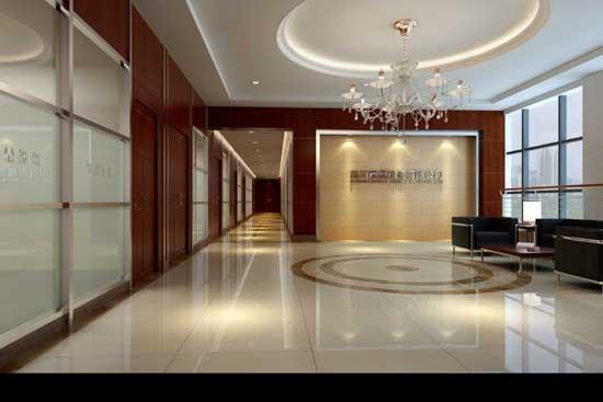 公司大厅效果图图片分享; 乐山市南风装饰工程有限公司;