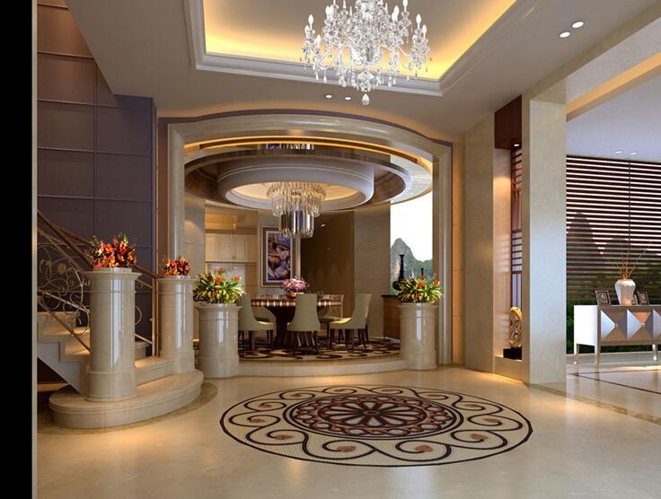 乐山金水湾别墅500平米超豪华客厅装修效果图