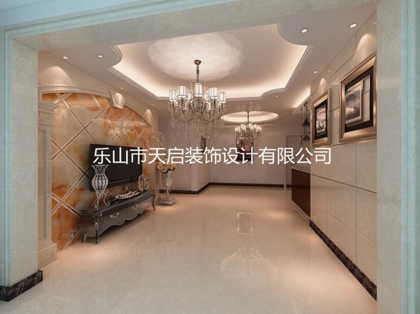 嘉州新城·滟澜洲王哥二居室装修效果图