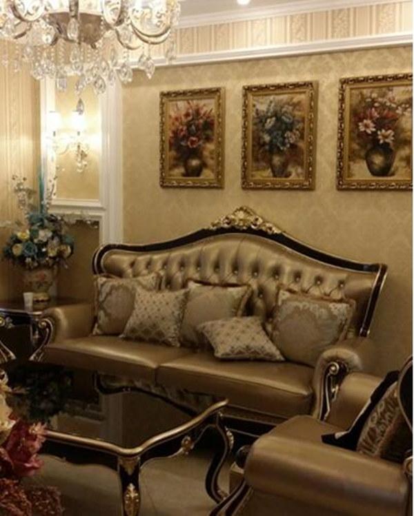 欧式装修效果图西式古典-11万-100㎡-客厅效果设计图