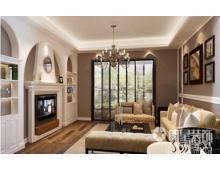 西城国际三室两厅亲切朴实田园风格装修效果图