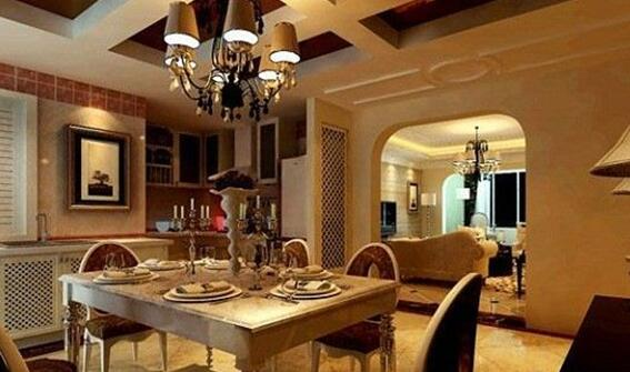 金杯银滩89平米欧式家装风格样板间
