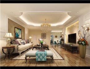 乐山蓝湾半岛三室两厅欧式装修案例